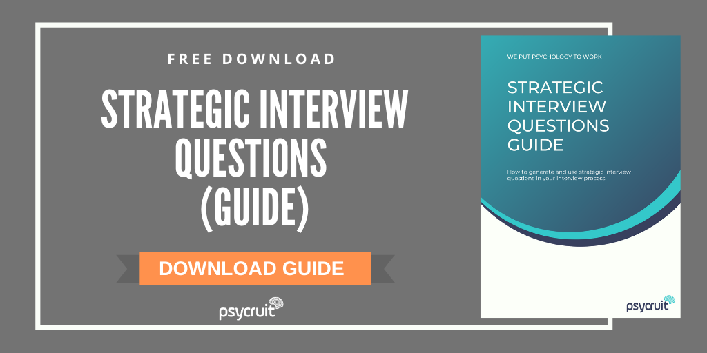 Strategic interview questions to ask candidates GUIDE